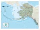 National Geographic - Alaska Map Laminated Poster Plakater av Geographic, National