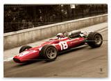 Ferrari F1 Vintage Bandini Holzschild