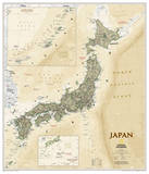 National Geographic - Japan Antique Map Poster Posters van Geographic, National
