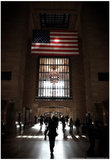 Gramd Central Station American Flag NYC Kunstdrucke