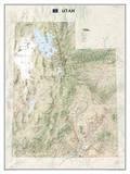 National Geographic - Utah Map Laminated Poster Plakater av Geographic, National