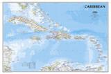 National Geographic - Caribbean Classic Map Laminated Poster Julisteet tekijänä  National Geographic Maps
