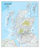 National Geographic - Scotland Classic Map Laminated Poster Posters av Geographic, National