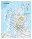 National Geographic - Scotland Classic Map Laminated Poster Julisteet tekijänä  National Geographic Maps