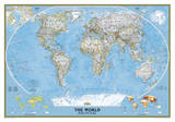 National Geographic - World Classic Map Laminated Poster Stampe di Geographic, National