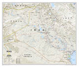 National Geographic - Iraq Classic Map Laminated Poster Plakater av Geographic, National