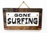 Gone Surfing Vintage 木製看板