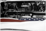 American Flag in Convertible Poster