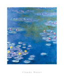 Water Lilies At Giverny Affiches par Claude Monet