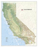 National Geographic - California Map Laminated Poster Julisteet tekijänä Geographic, National