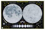 National Geographic - Earth's Moon Map Laminated Poster Julisteet tekijänä Geographic, National
