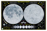 National Geographic - Earth's Moon Map Laminated Poster Pôsters por National Geographic