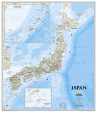 National Geographic - Japan Classic Map Laminated Poster Foto van Geographic, National