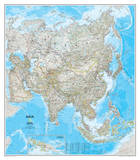 National Geographic - Asia Classic Map Laminated Poster Poster van Geographic, National
