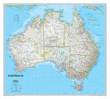 National Geographic - Australia Classic Map Laminated Poster Planscher av Geographic, National
