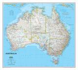 National Geographic - Australia Classic Map Laminated Poster Stampa di  National Geographic Maps