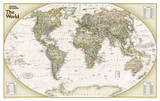 National Geographic - World Explorer Executive Map Laminated Poster Affiches par National Geographic