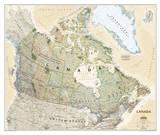 National Geographic - Canada Executive Map Laminated Poster Kunstdrucke von  National Geographic Maps