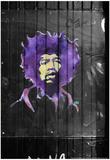 Jimi Hendrix Graffiti NYC Foto