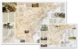 National Geographic - Battles of the Revolutionary War and War of 1812 Map, Two-Sided Laminated Pos Poster di  National Geographic Maps