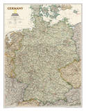National Geographic - Germany Executive Map Laminated Poster Fotografia por  National Geographic Maps