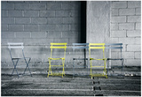 Silver and Yellow Chairs Pósters