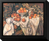 Still Life with Apples and Oranges, c.1895-1900 Inramat kanvastryck av Paul Cézanne