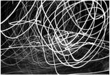 Black and White Swirls アートポスター