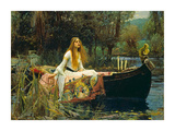 Jomfruen af Shalott, The Lady of Shalott, 1888 Poster af John William Waterhouse