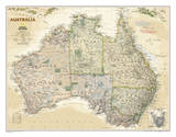 National Geographic - Australia Executive Map Laminated Poster Poster par National Geographic