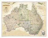National Geographic - Australia Executive Map Laminated Poster Poster von  National Geographic Maps