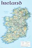 Landkarte von Irland Kunstdrucke