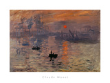 Impression, Soleil Levant Poster by Claude Monet