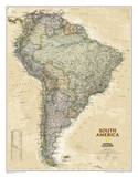 National Geographic - South America Executive Map Laminated Poster Plakater av  National Geographic Maps