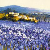 Champs d'Iris, Provence Affiches par Hazel Barker