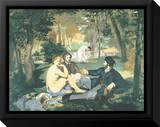 Dejeuner sur l'Herbe Reproduction sur toile encadrée par Edouard Manet