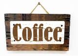 Coffee Vintage 木製看板