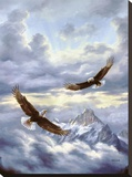 Spirits Of The Wind Stretched Canvas Print by Rudi Reichardt