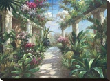 Garden Charm Stretched Canvas Print by James Reed