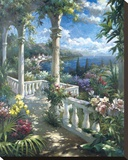 Seaside Terrace Stretched Canvas Print by James Reed