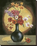 Poppy IV Stretched Canvas Print by Betty Whiteaker