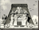 Louvre Stretched Canvas Print by Judy Mandolf