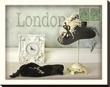 London Hat Stretched Canvas Print by Judy Mandolf
