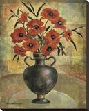 Poppy I Stretched Canvas Print by Betty Whiteaker