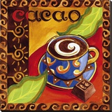 Cacao Chocolate Stretched Canvas Print by Jennifer Brinley