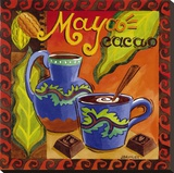 Mayan Chocolate Stretched Canvas Print by Jennifer Brinley