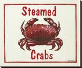 Steamed Crabs Opspændt lærredstryk af Catherine Jones