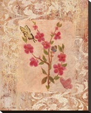Butterflies And Blossoms III Bedruckte aufgespannte Leinwand von Lisa Ven Vertloh