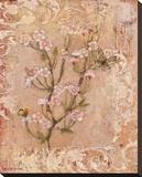 Butterflies And Blossoms I Bedruckte aufgespannte Leinwand von Lisa Ven Vertloh
