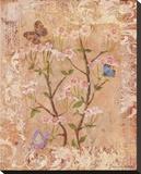 Butterflies And Blossoms II Bedruckte aufgespannte Leinwand von Lisa Ven Vertloh
